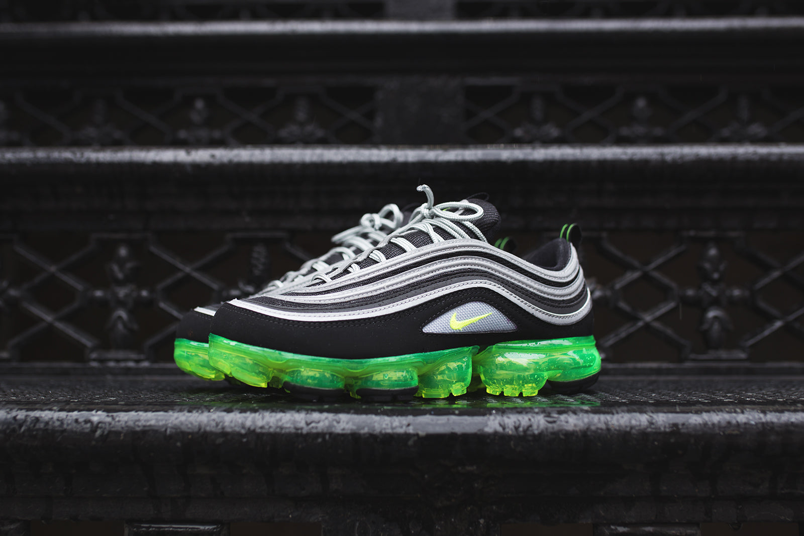 wholesale dealer fa3f2 bb1c0 Nike Air VaporMax '97 - Black / Volt / Metallic Silver – Kith