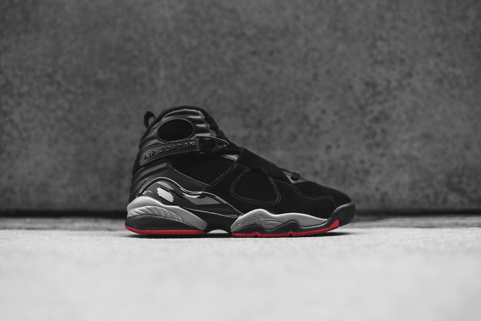 check out bd6b9 2675a ... Nike Air Jordan 8 Retro - Black Red ...