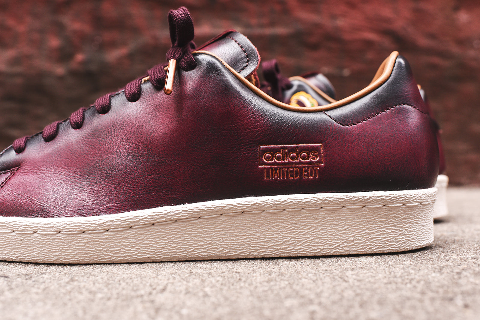 new product 59ea4 9e7df adidas Consortium x Limited Edition Superstar - Burgundy – Kith