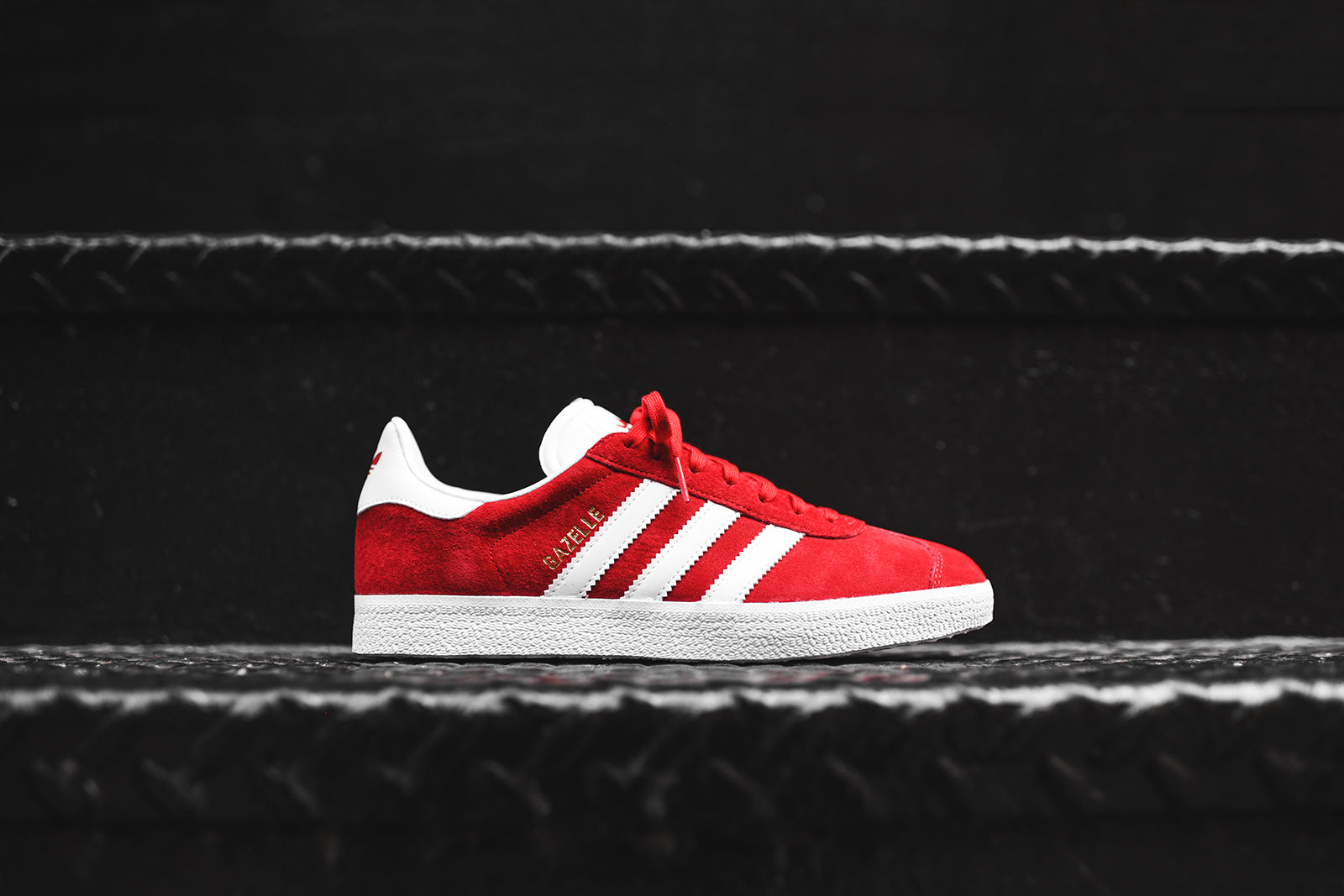 adidas Originals Gazelle - Red   White – Kith a691d7e97001