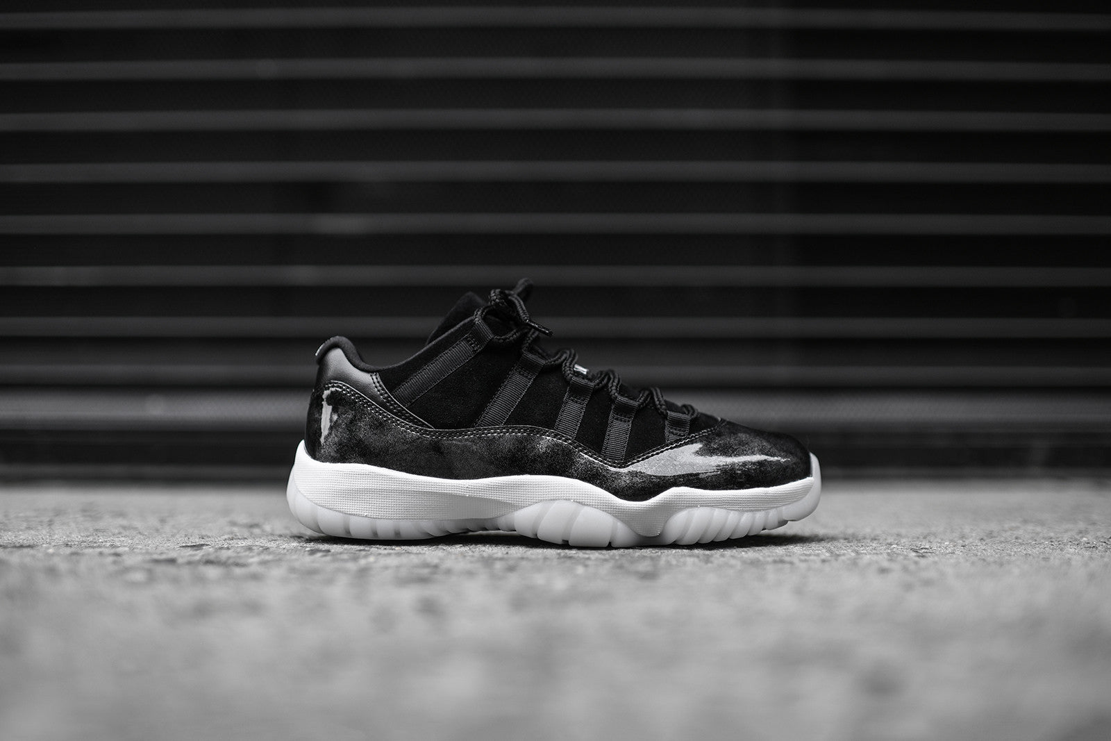 Nike Air Jordan 11 Retro Low - Black   White   Metallic Silver – Kith 76d2951fc
