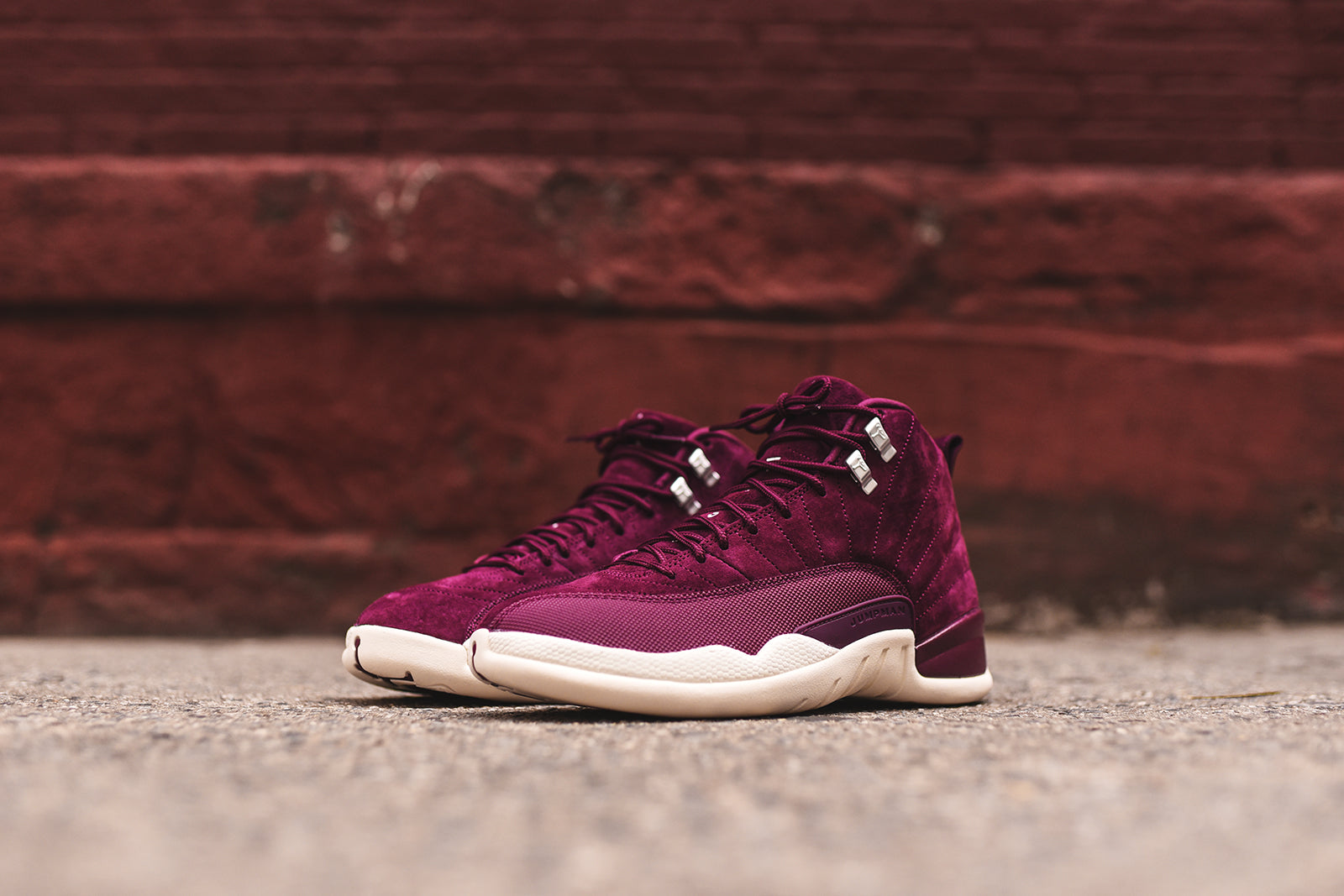 nice cheap shopping well known Nike Air Jordan 12 - Bordeaux / Ivory – Kith