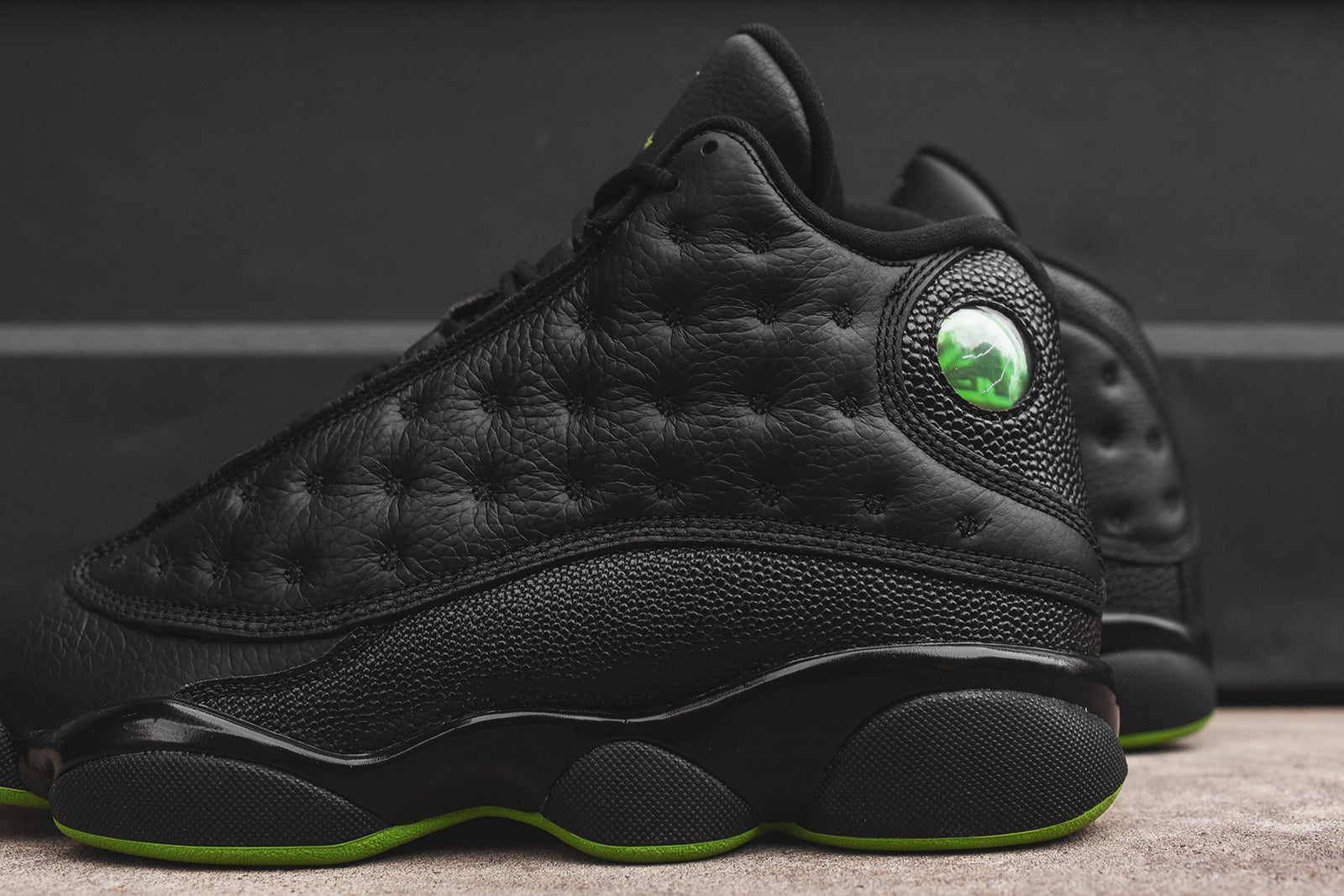 cheap for discount 6ec5c 2ea94 Nike Air Jordan 13 - Black / Green – Kith