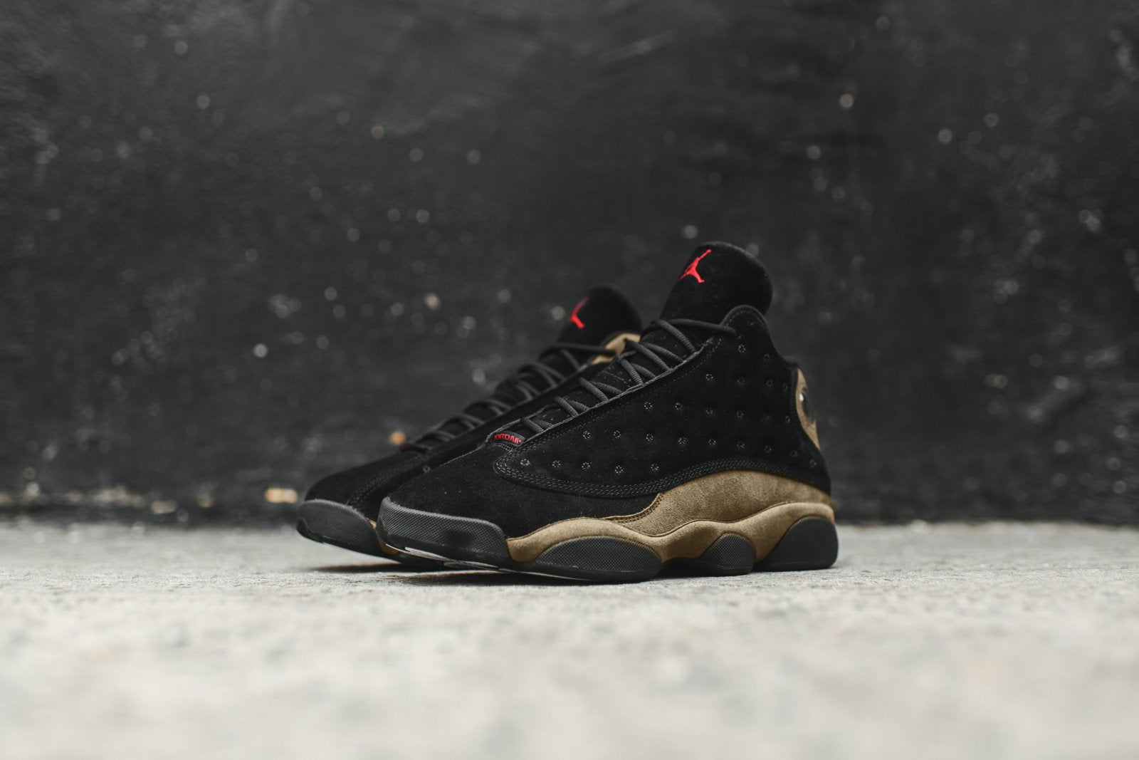 buy online 0215b dcb9a Nike Air Jordan 13 Retro - Black / Olive – Kith