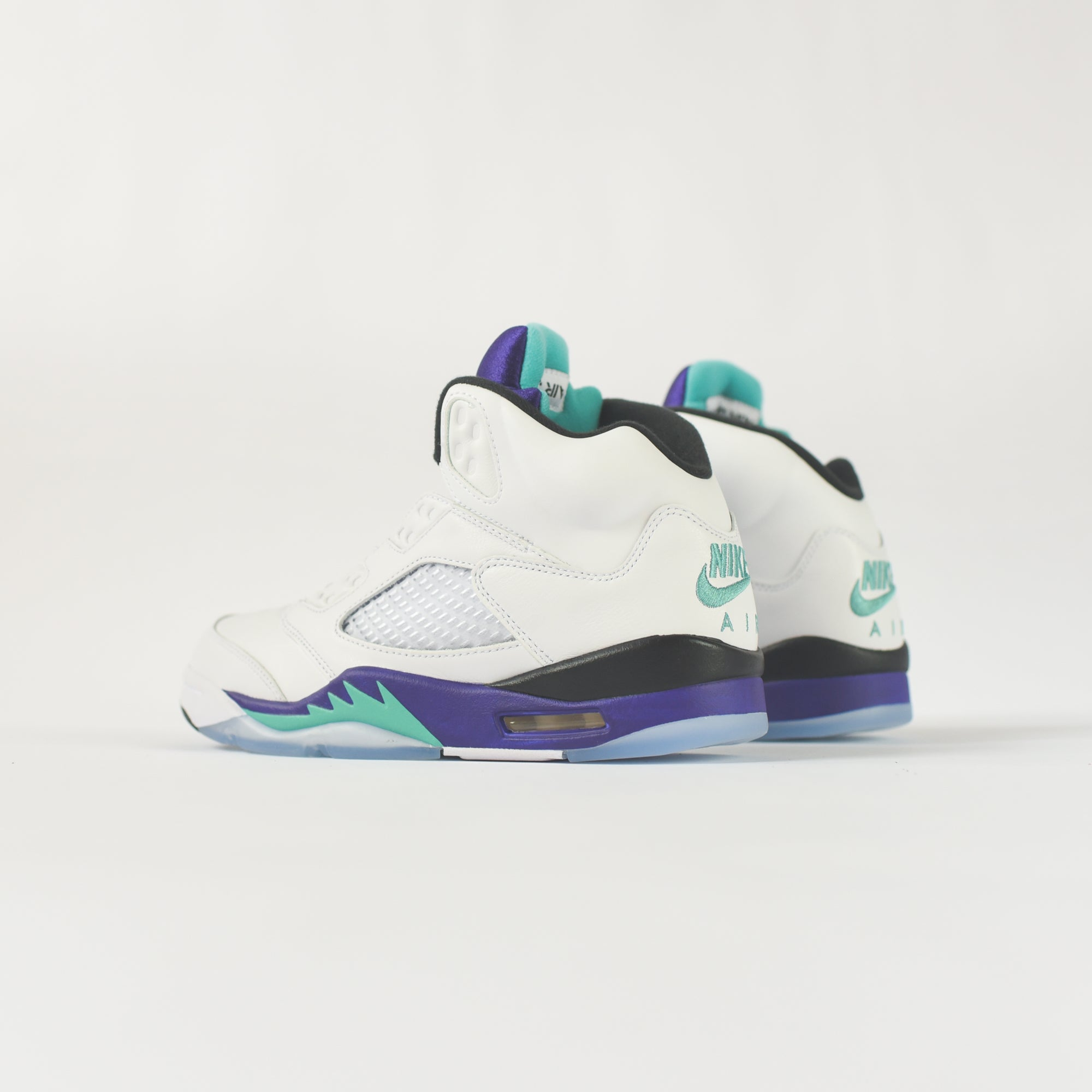 best sneakers 533de 63a29 Nike Air Jordan 5 Retro NRG - White   New Emerald   Grape Ice – Kith