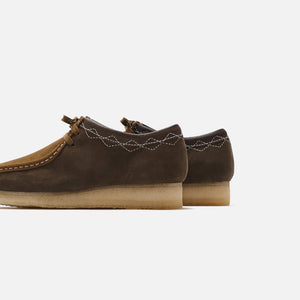 Clarks Stitch Pack Wallabee - Green Combi 4