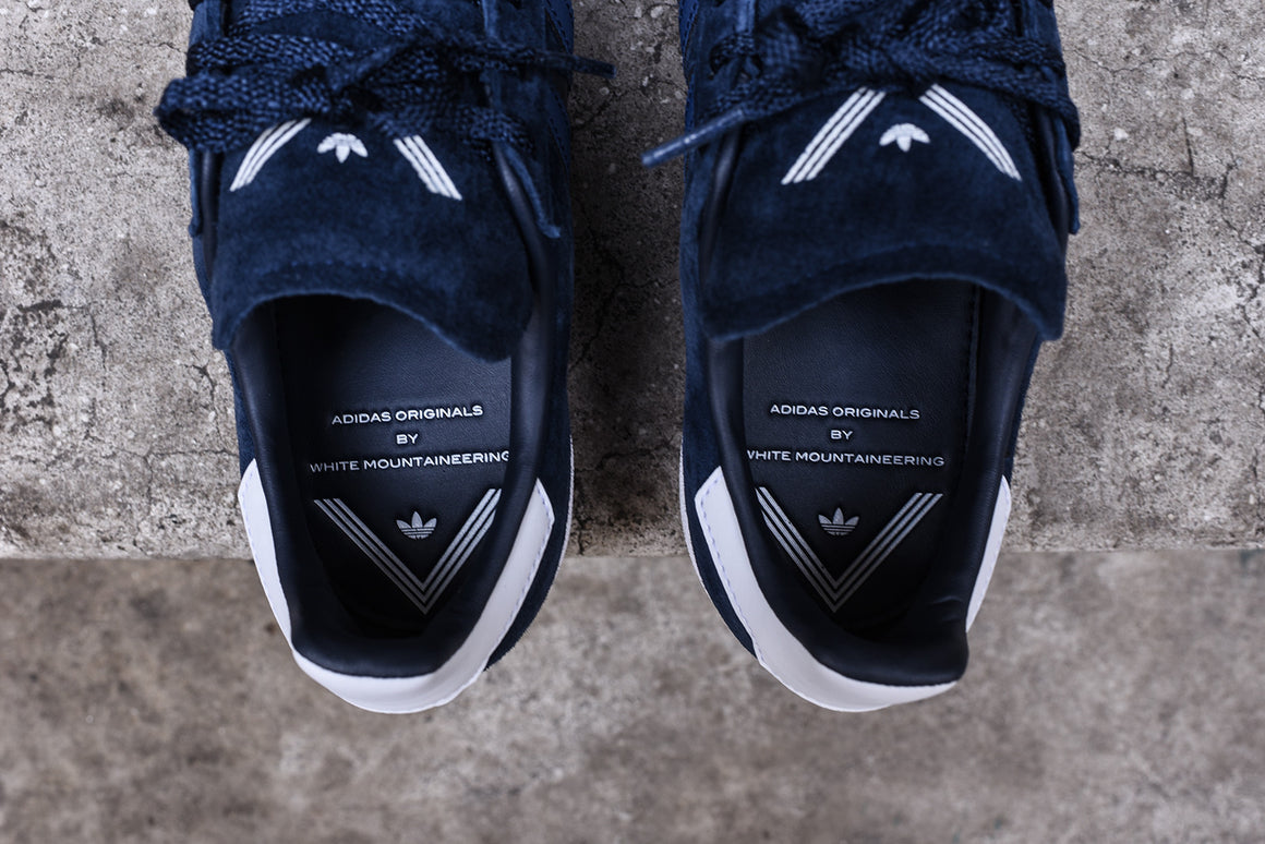 wholesale dealer 83655 73794 The Campus 80 in suede also features strips of leather and the White  Mountaineering logo on the insole and tongue. Check out more pics below and  use the ...