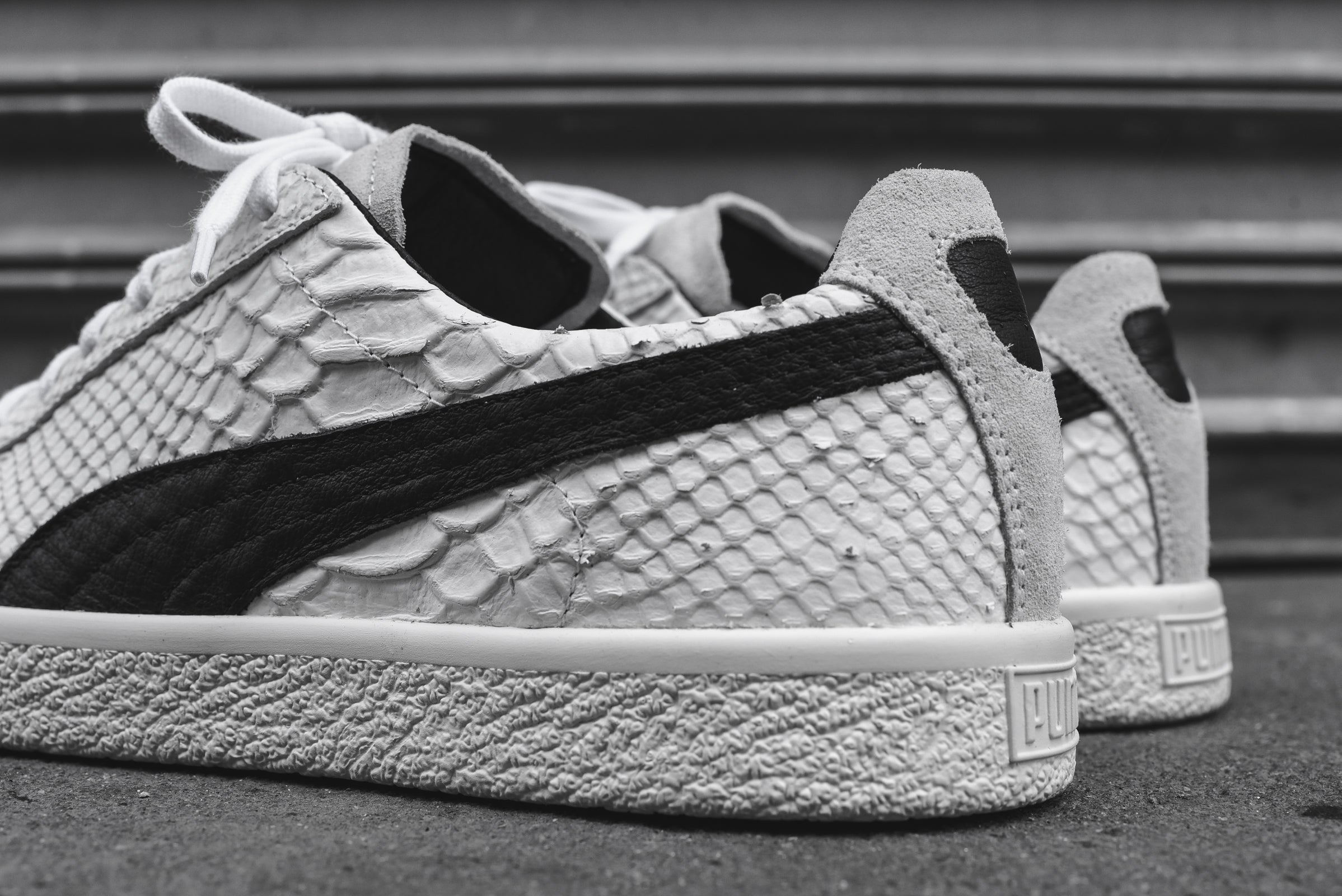 super popular 4b8ed fbcac Puma Clyde Select Made In Italy Snakeskin - White / Black – Kith