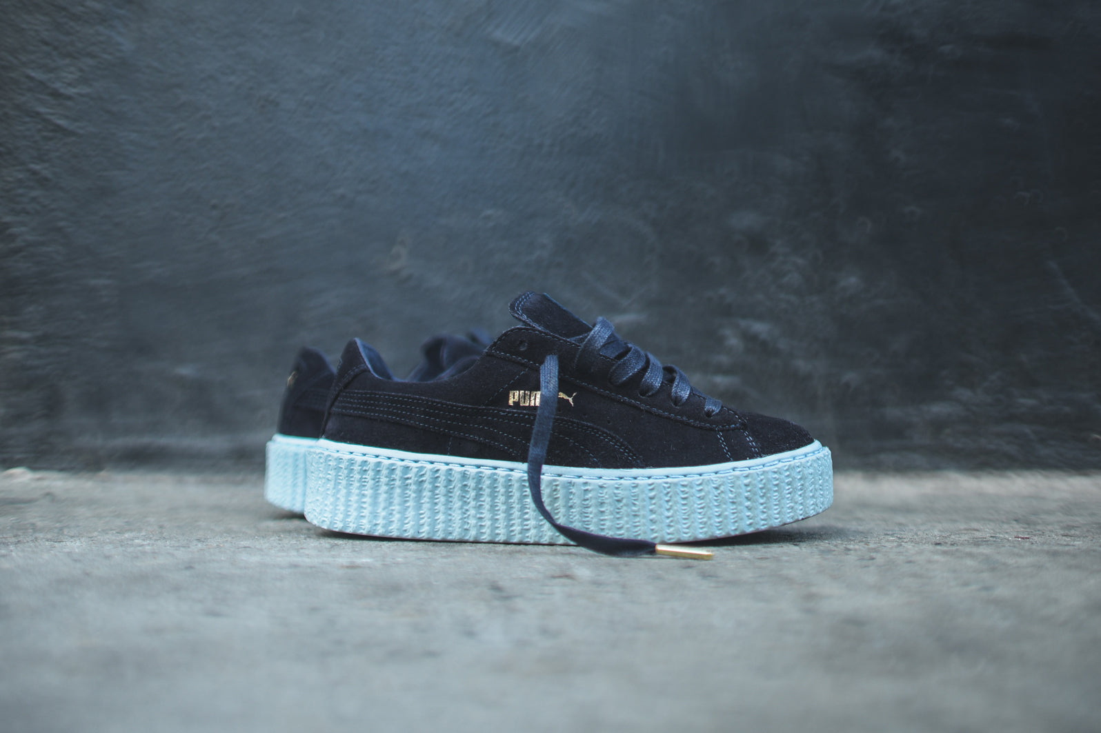newest d256b 07cfc Puma x Rihanna WMNS Suede Creeper - Peacoat / Cool Blue – Kith