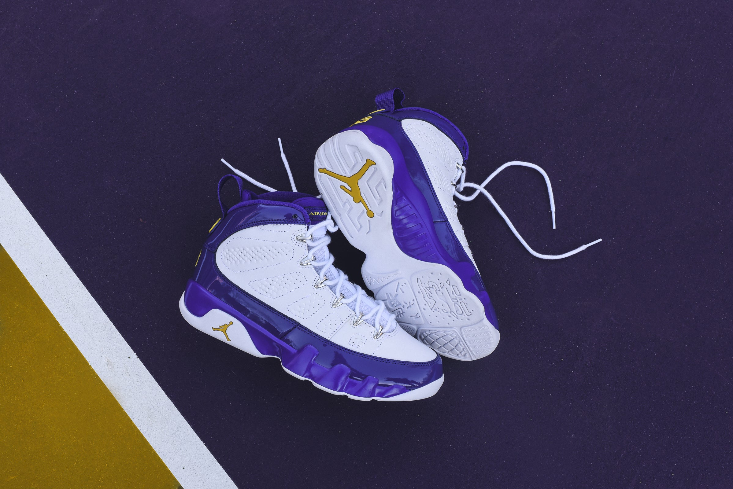 brand new 76536 904c4 ... Nike Air Jordan 9 Kobe Bryant PE - White Tour Yellow Concord ...