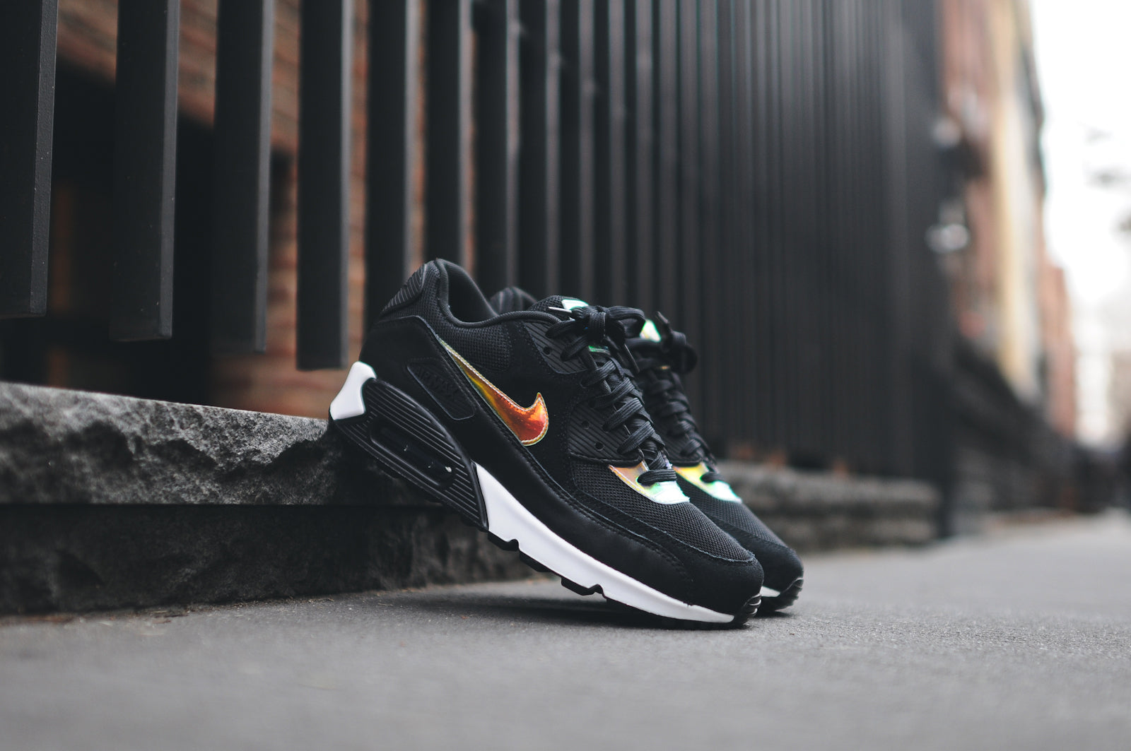 21778c104869d NIKE AIR MAX 90 PRM - BLACK / GOLD @ KITH NYC – Kith