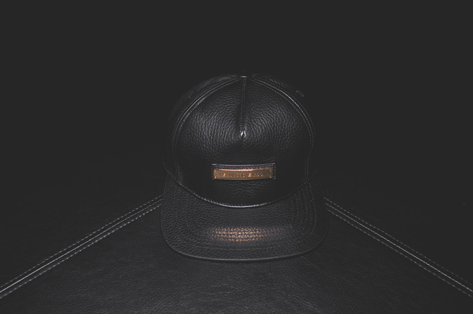 804e436e428 BUSCEMI PEBBLED SCREWBACK HAT - BLACK COW   KITH NYC – Kith