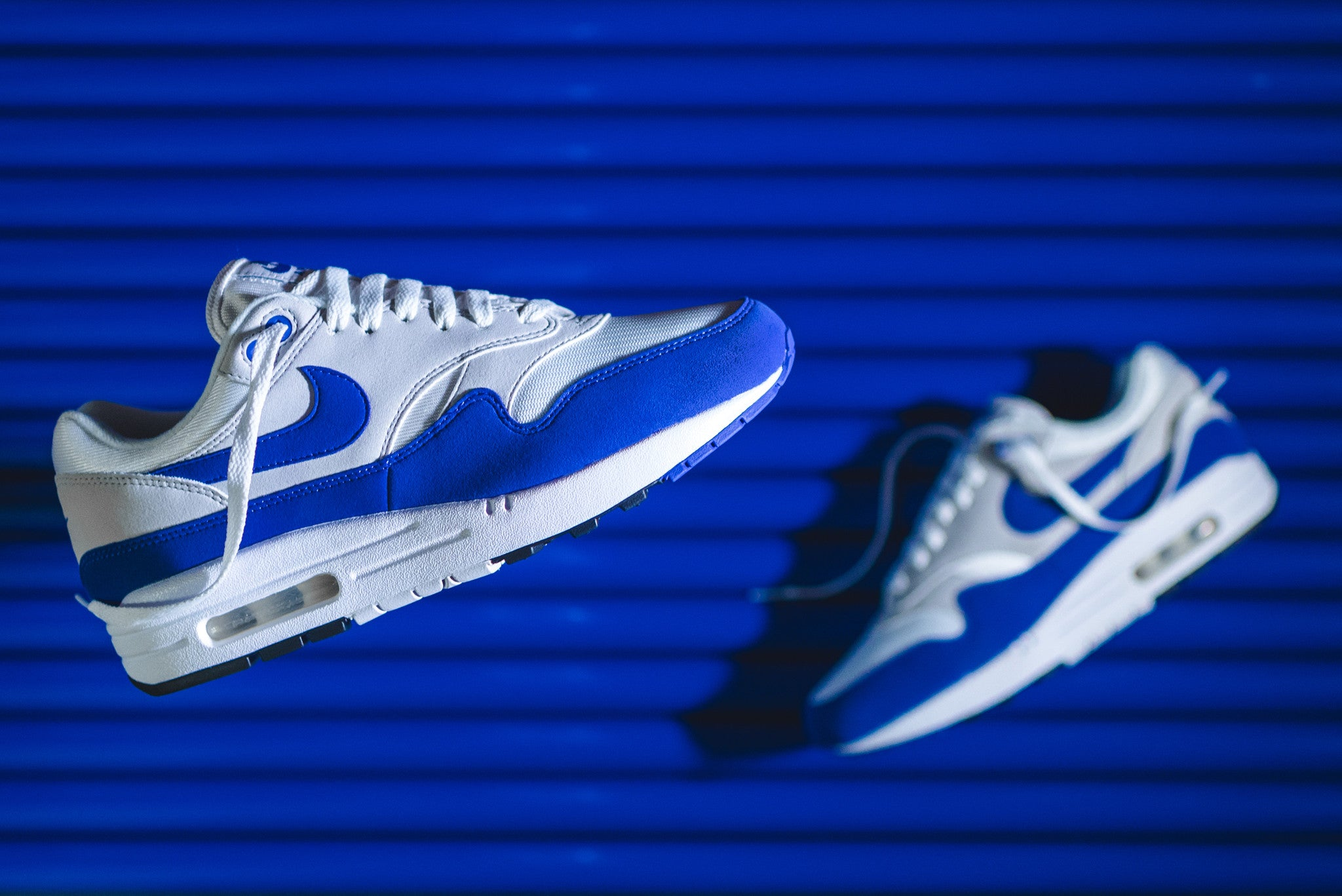 info for cf6d8 e1924 Nike Air Max 1 OG Anniversary - White / Game Royal – Kith