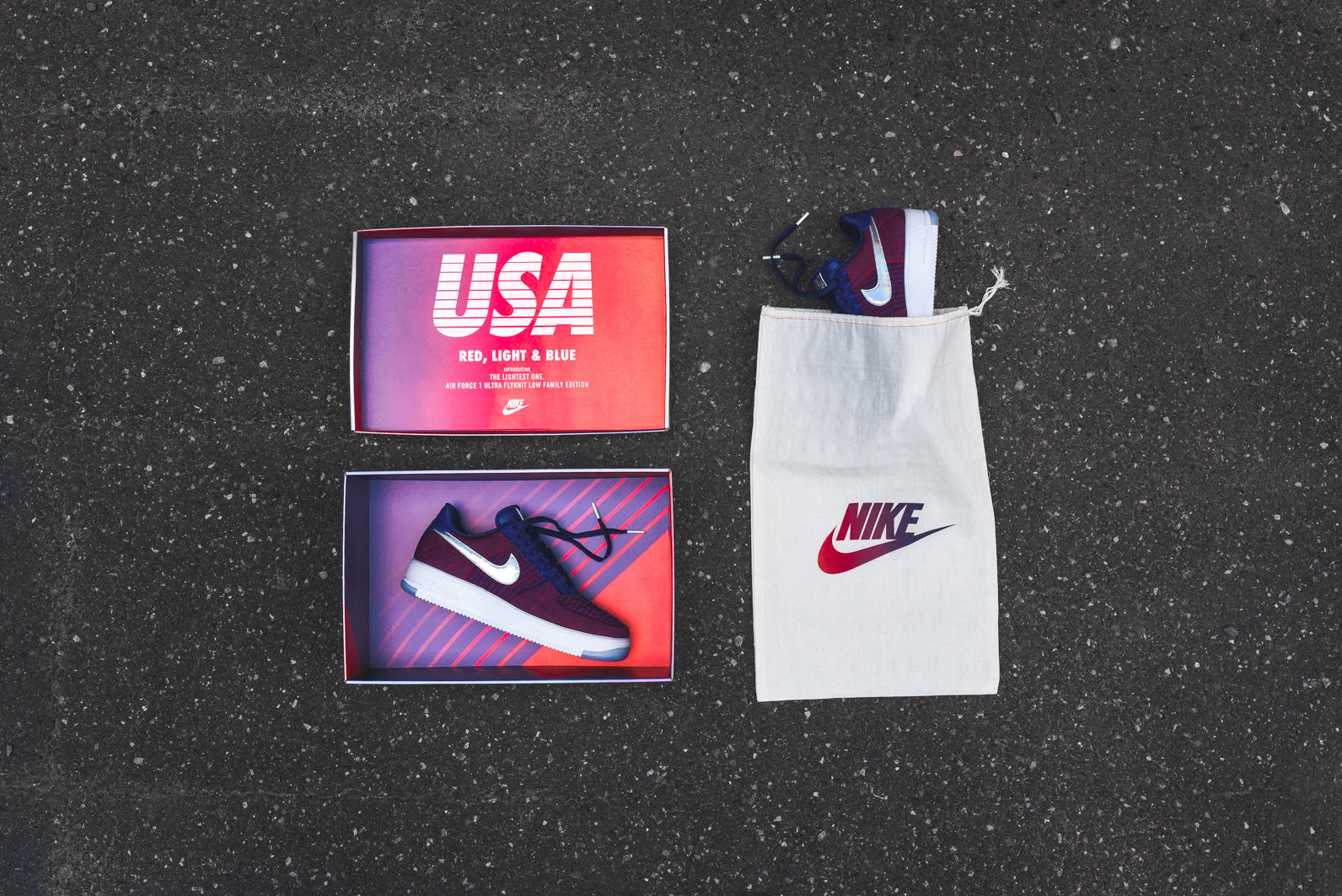best service 2217e 0b25b Nike Air Force 1 Ultra Flyknit Low PRM - USA Family Edition. June 25, 2016.  -6. -1
