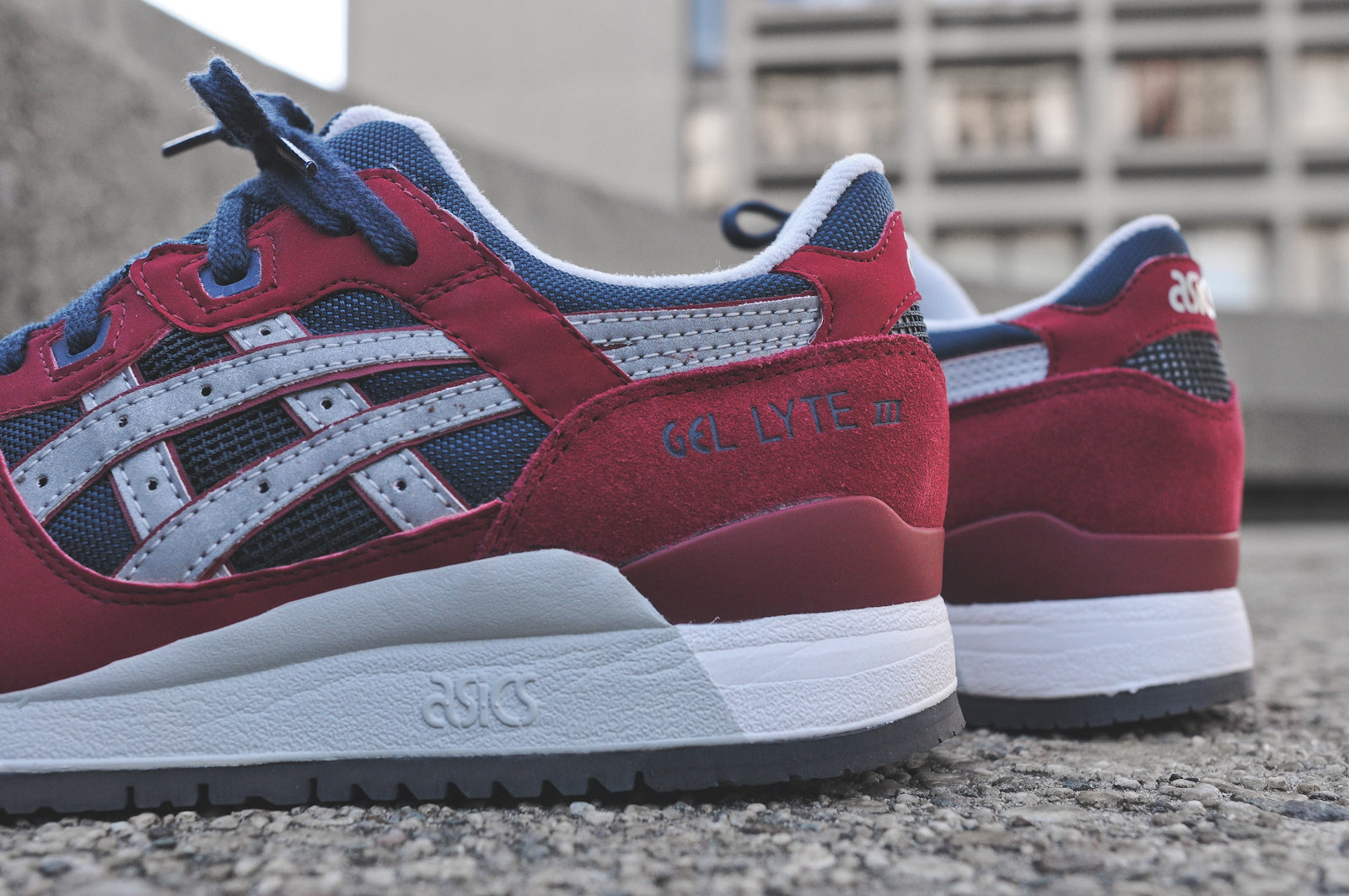 ASICS GEL LYTE III BURGUNDY NAVY & GEL SAGA BLACK