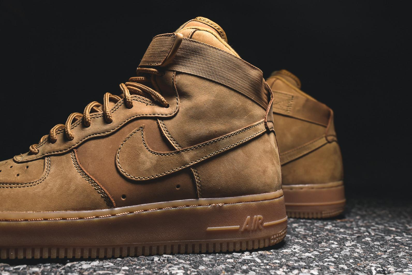 detailed look e48de ccdec Nike Air Force 1 High - Flax / Gum – Kith
