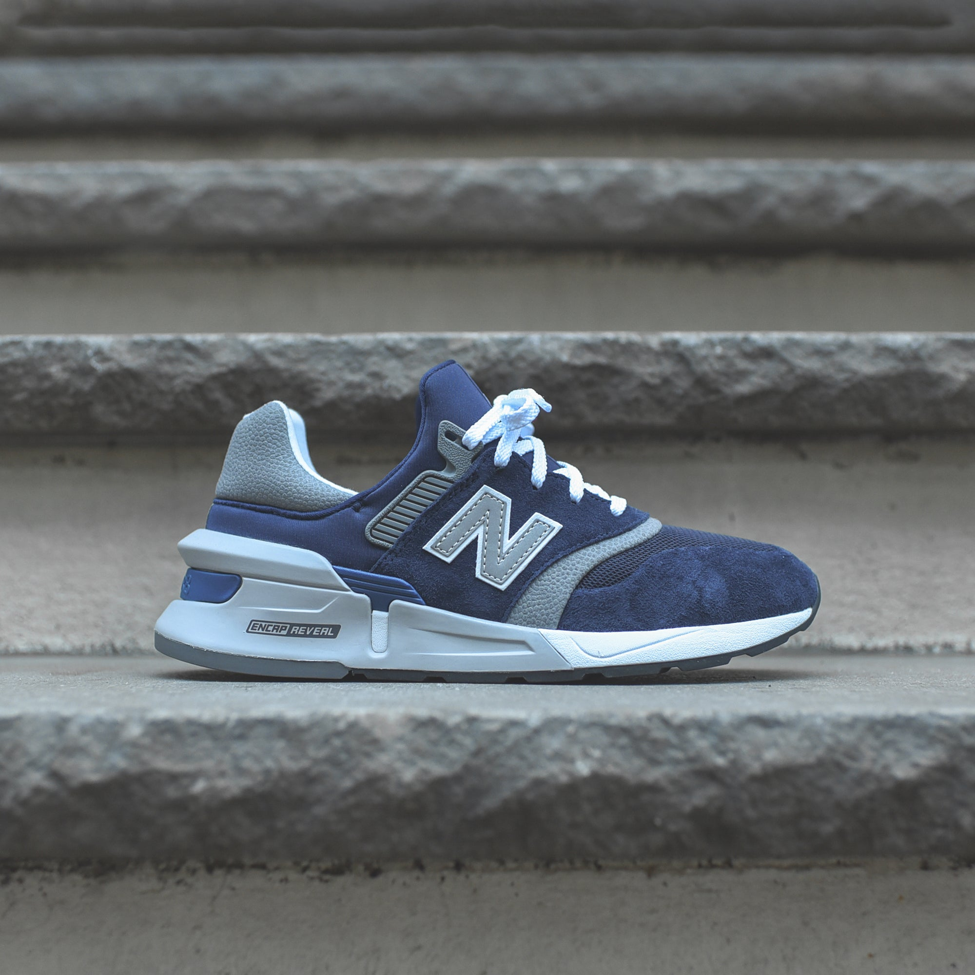 New Balance 997 Sport - Navy / Grey / White – Kith
