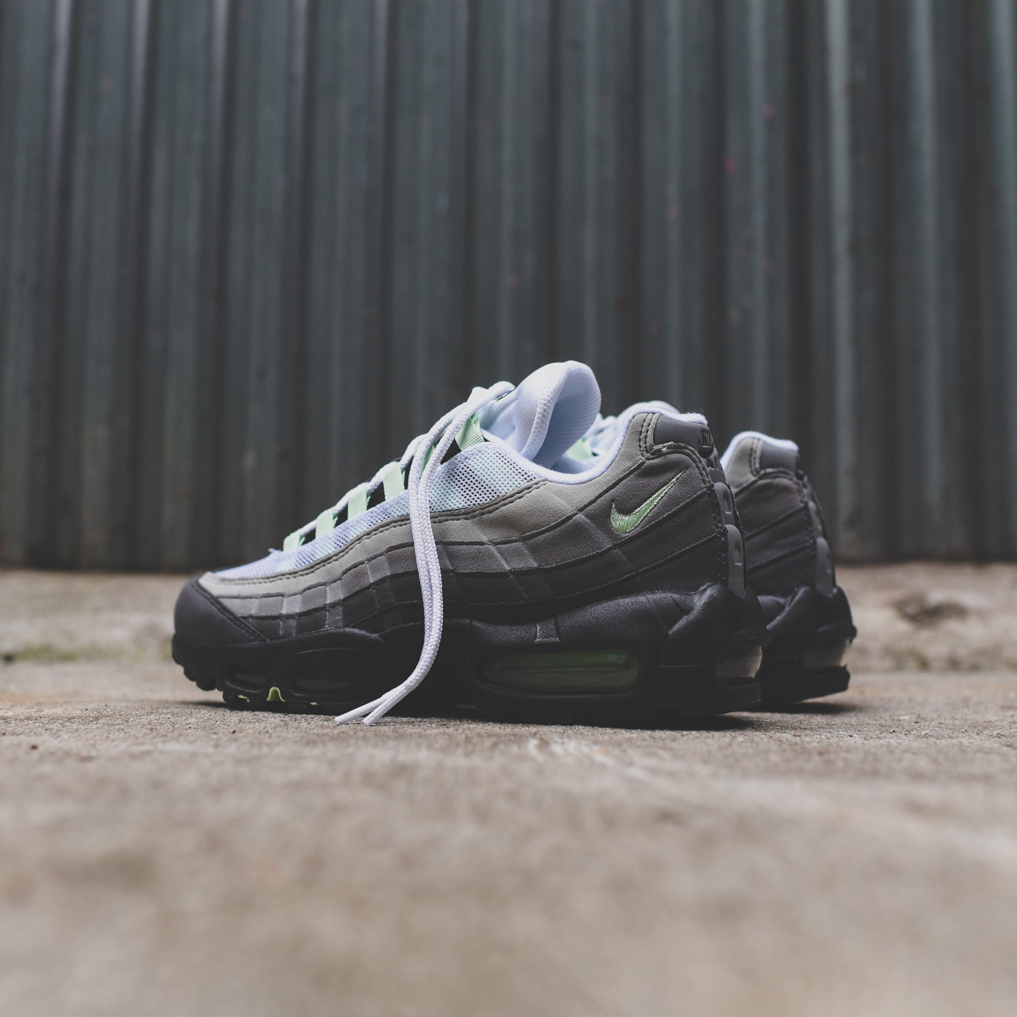1f2b63d3 Nike Air Max 95 - White / Fresh Mint / Granite / Dust / Dark Pewter ...
