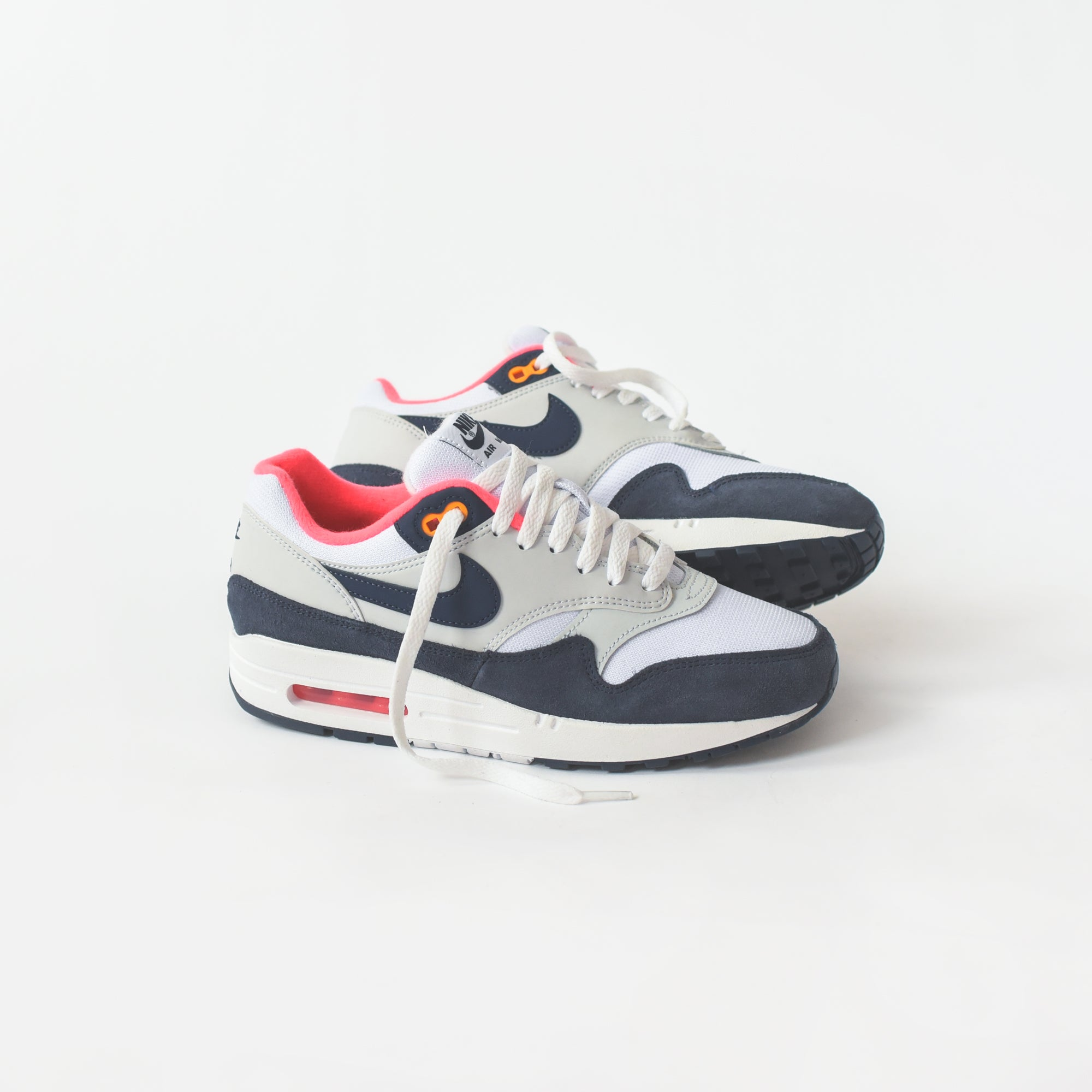 Nike WMNS Air Max 1 White Midnight Navy Pure Platinum