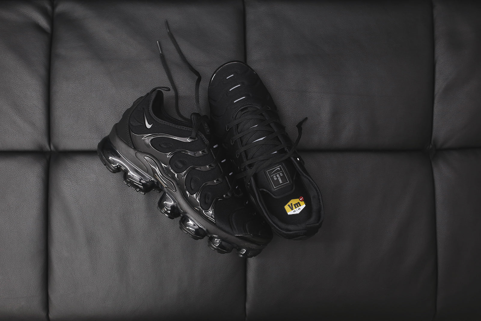 more photos 6d469 6c232 Nike Air VaporMax Plus - Triple Black – Kith
