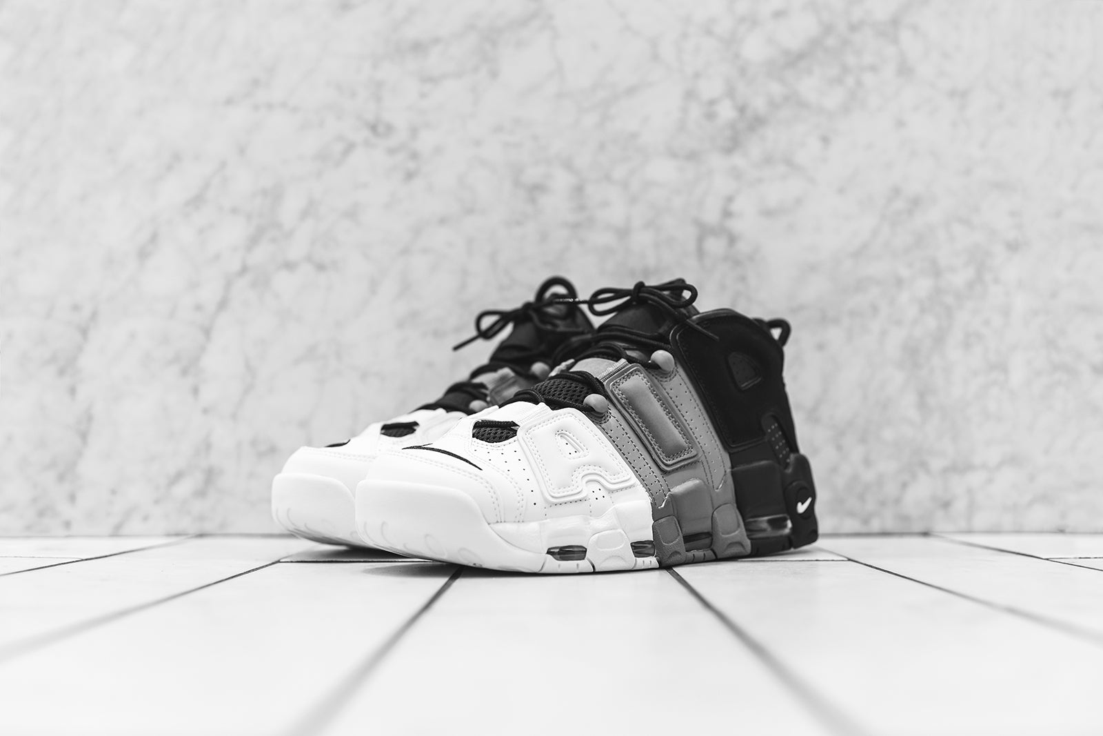 77e148de76 Nike Air More Uptempo '96 - Black / White. August 12, 2017. -3. -1. -2