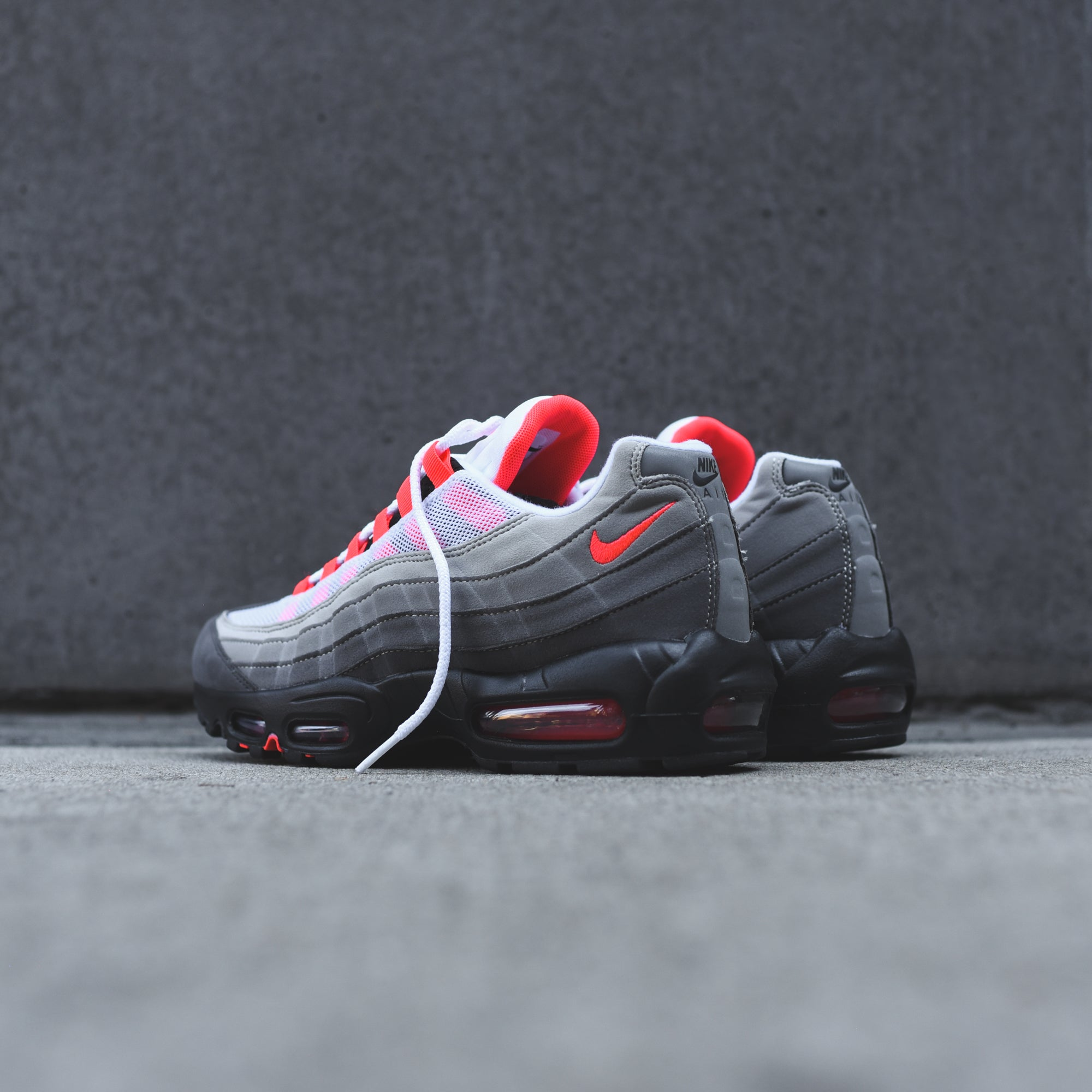 reputable site 4d623 61e44 Nike Air Max 95 OG - White / Solar Red – Kith