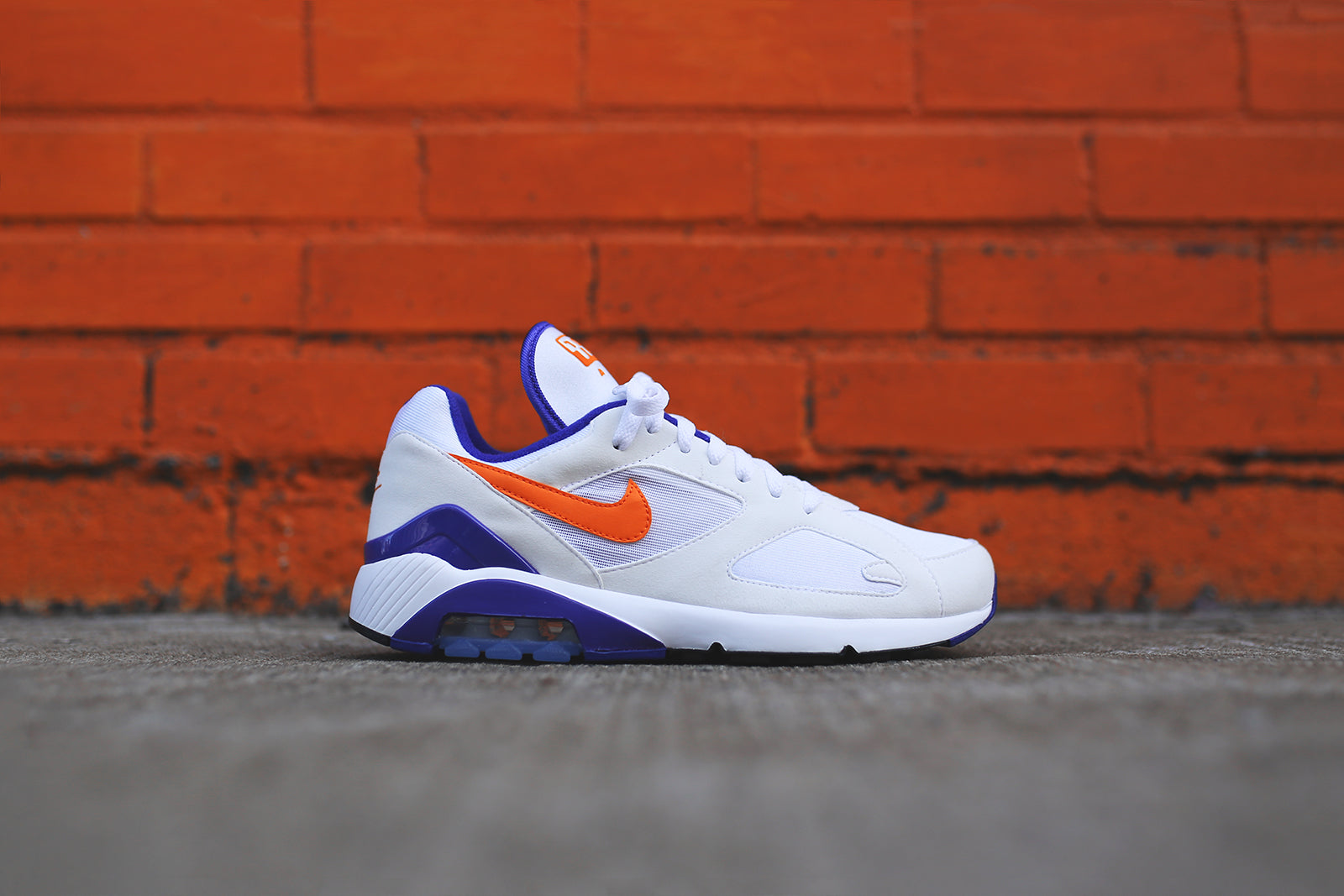 5b7ef5eb3550 Nike Air Max 180 - White   Orange   Purple – Kith