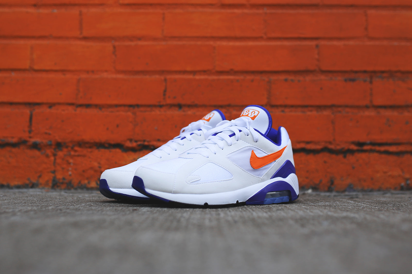 los angeles 2dcbb 4a1b6 ... new zealand nike air max 180 white orange purple c0b92 dd1db
