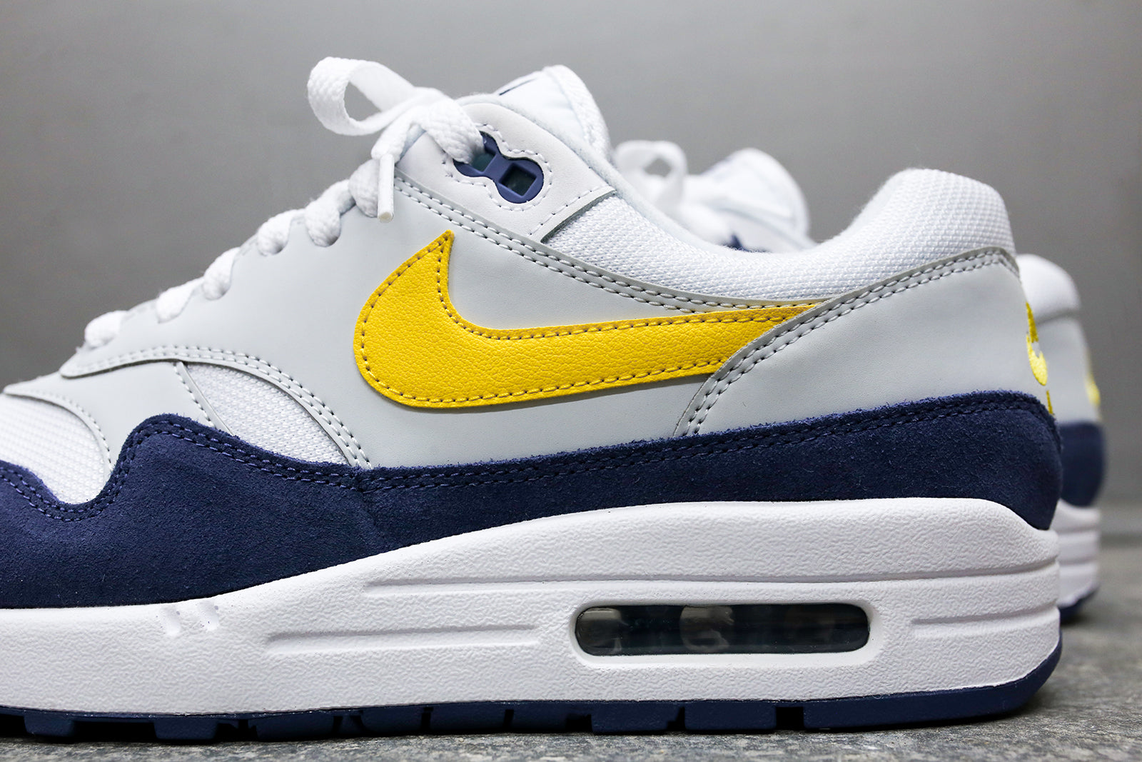 00325f07439b Nike Air Max 1 - White   Yellow   Blue. May 01