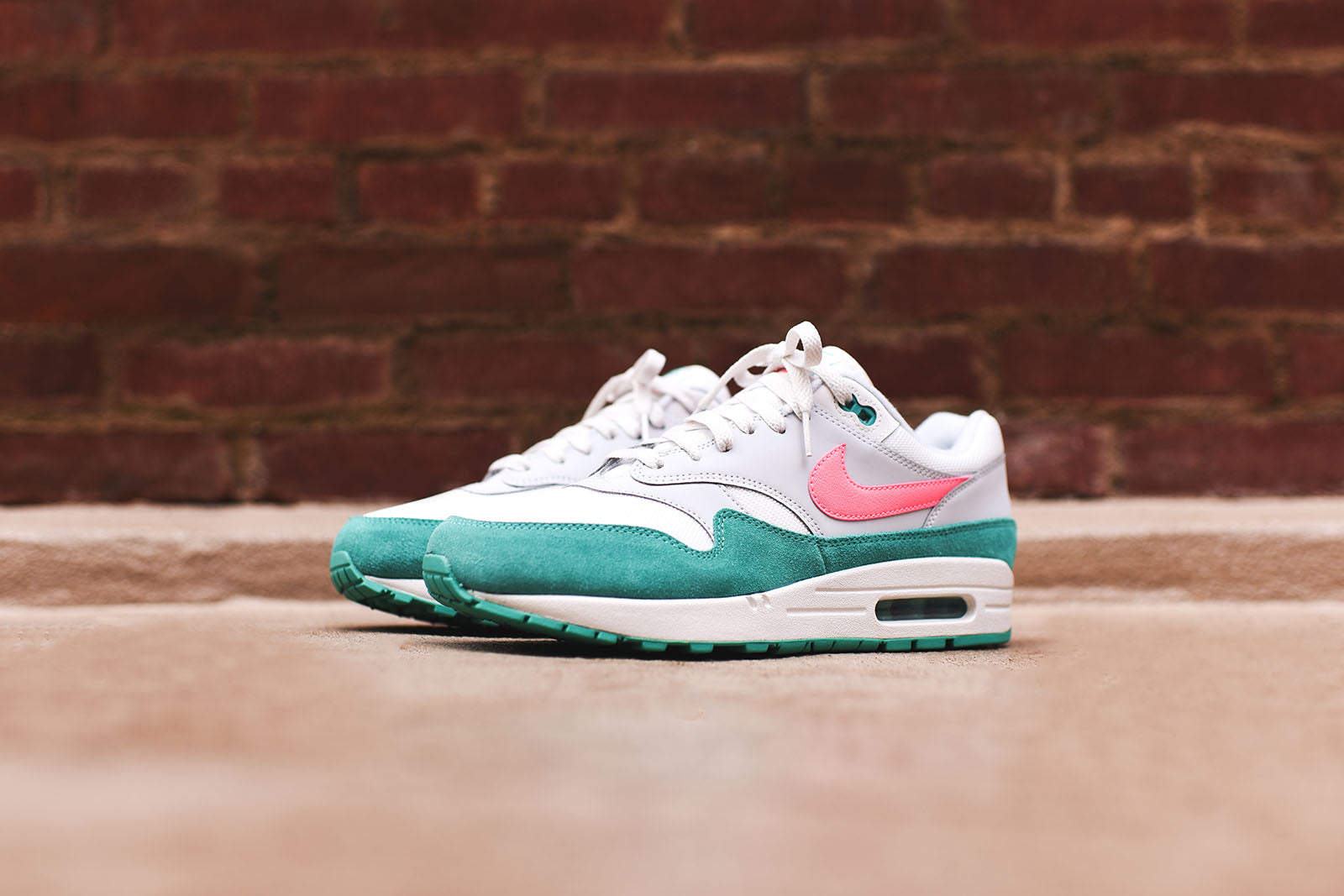 release date aa924 84474 Nike Air Max 1 - White   Pink   Green – Kith