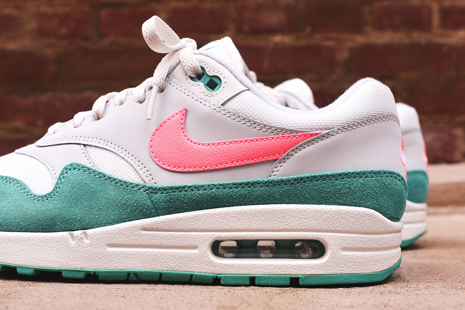 Nike Air Max 1 - White   Pink   Green – Kith 9dd3b6542