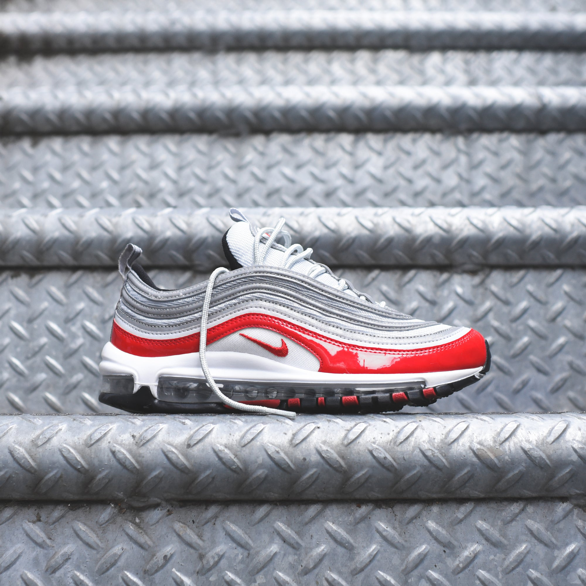 new concept ef3dc a250f Nike Air Max 97 - Pure Platinum / University Red – Kith