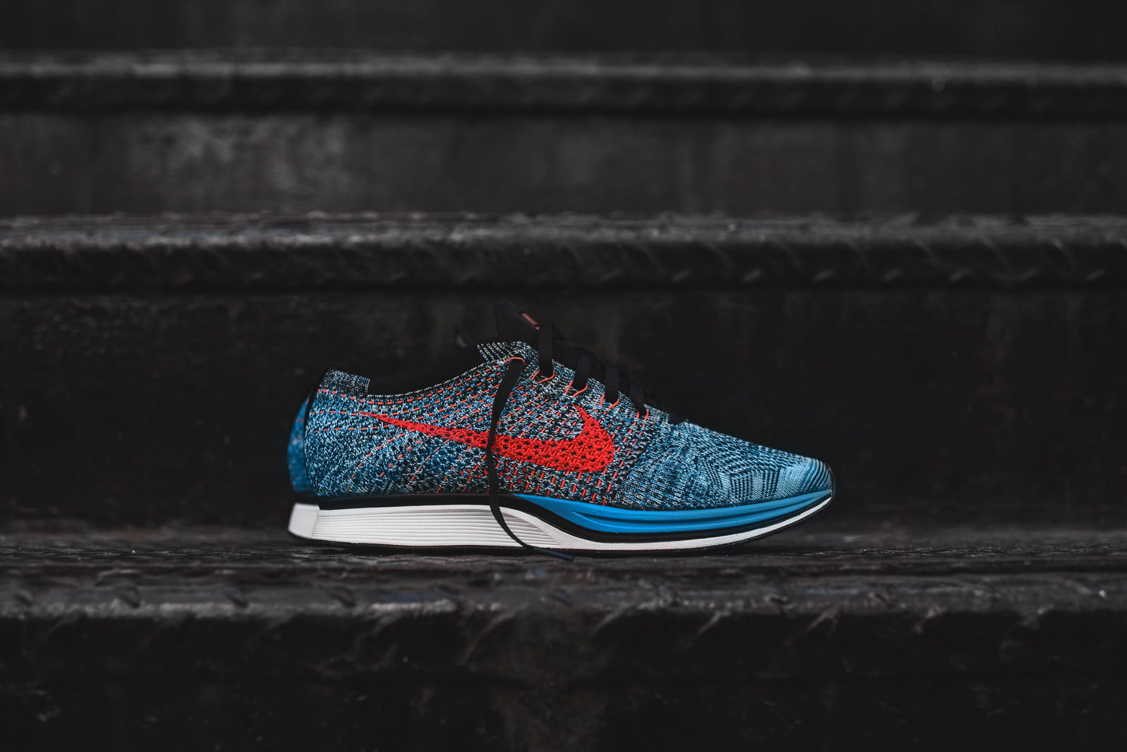 59ba8f4d3c7d Nike Flyknit Racer - Neo Turquoise   Bright Crimson. March 25