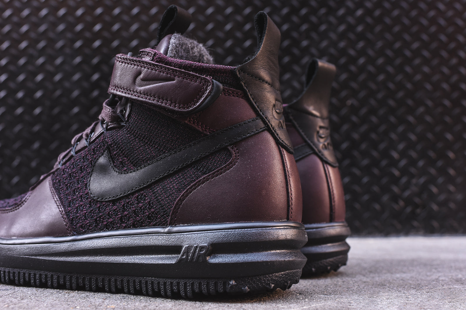 check out 9ad13 9f181 Nike Lunar Force 1 Flyknit Workboot - Burgundy – Kith