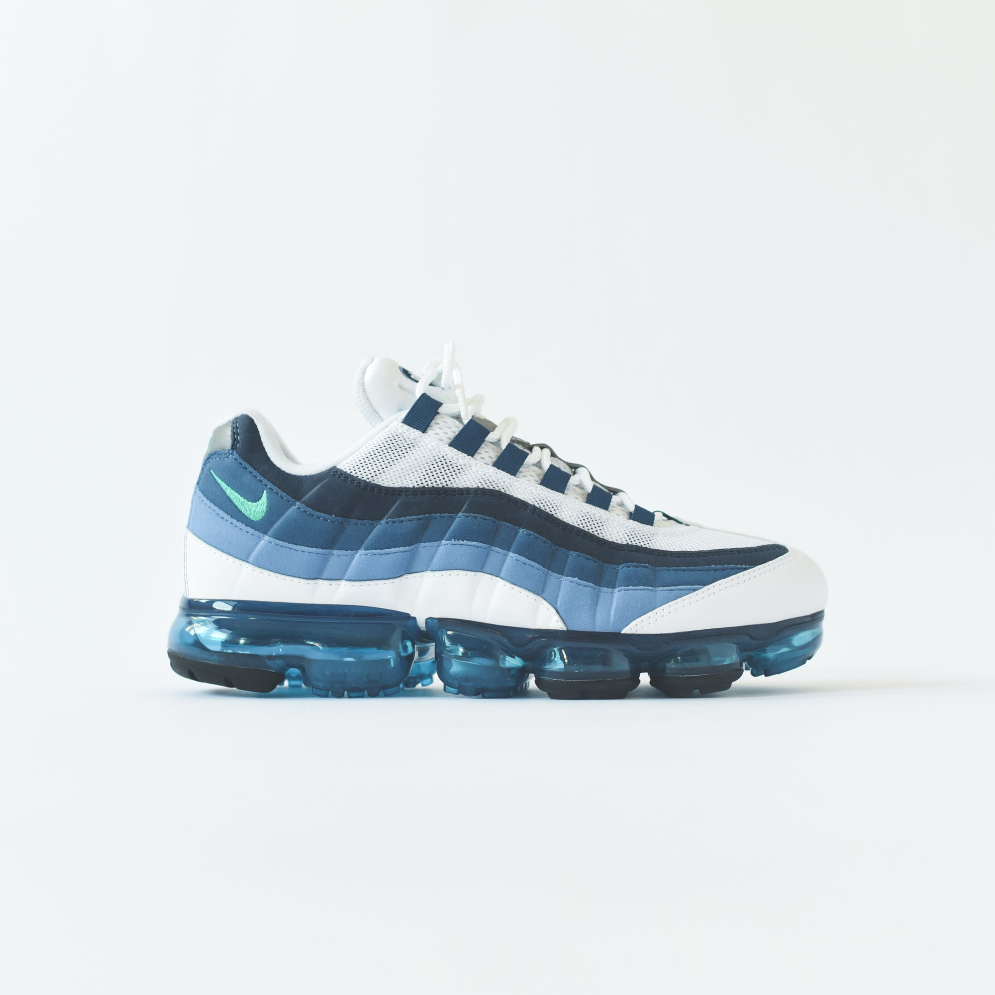 cd24bebff7 Nike Air VaporMax '95 - White / New Green / French Blue Lake. September 06,  2018. -3. -1