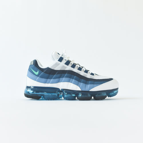 Nike Air VaporMax '95 - White / New Green / French Blue Lake