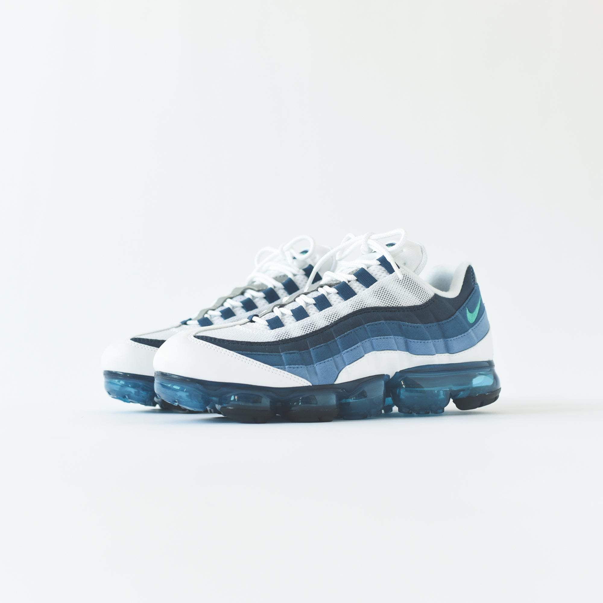 56ba477e20 Nike Air VaporMax '95 - White / New Green / French Blue Lake. September 06,  2018. -3. -1. -2