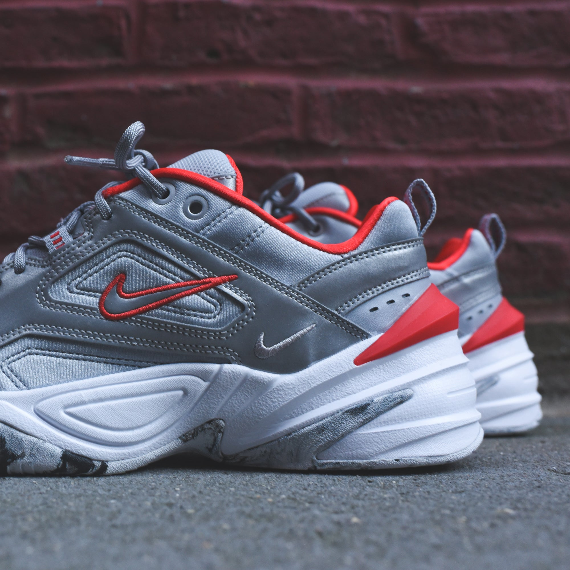 d8669294190 Nike WMNS M2k Tekno - Reflective Silver   Red – Kith
