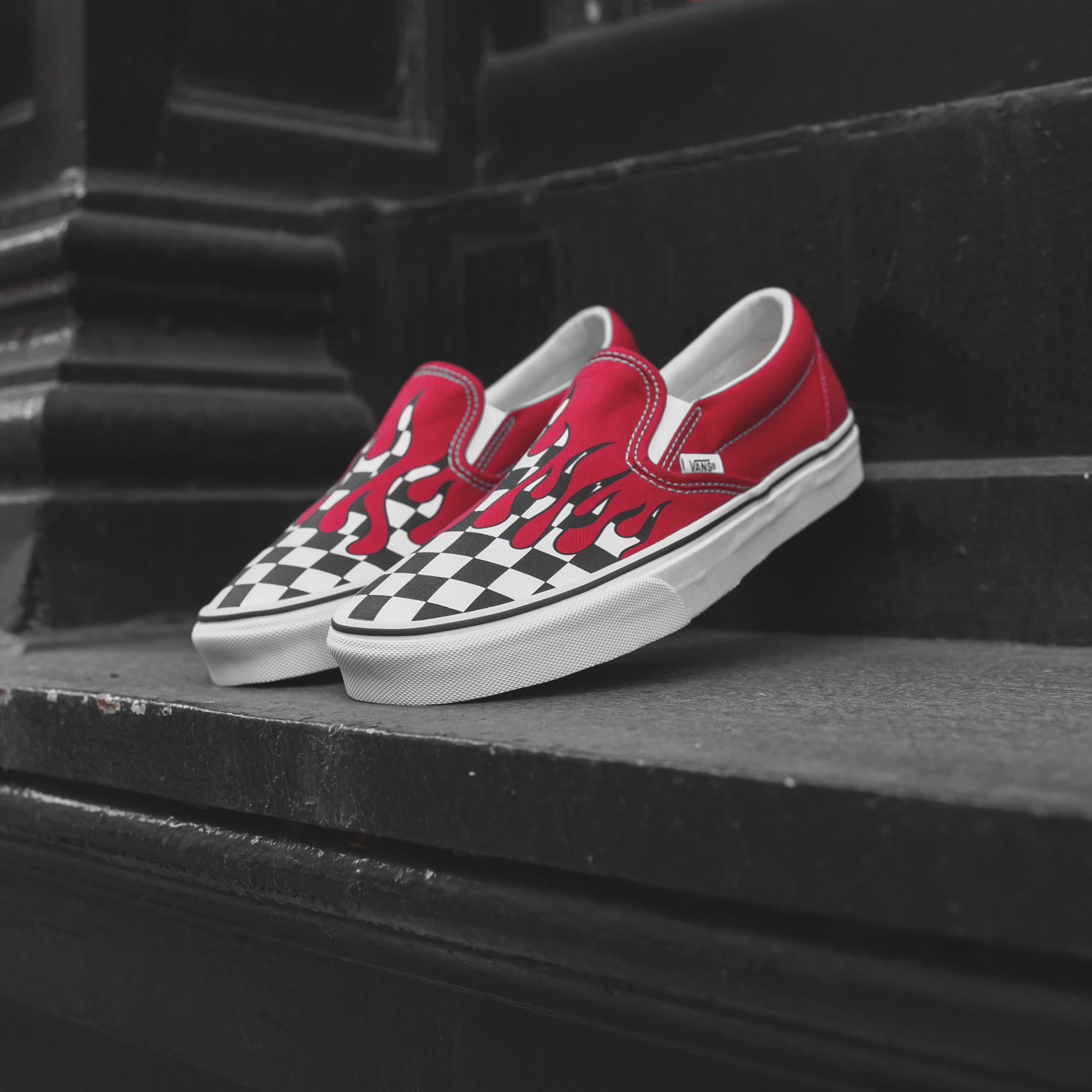 ff7f025c60 Vans UA Classic Slip-On - Red   Flame – Kith