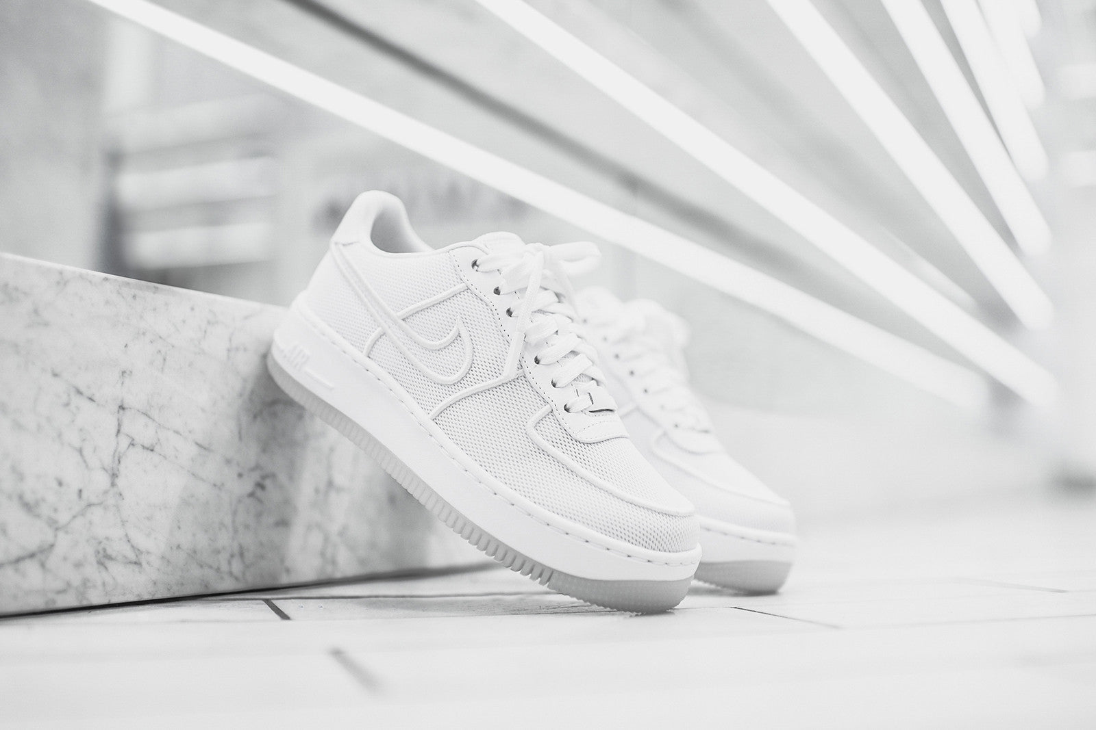Nike Air Force 1 AF1 Low Upstep BR White Sneakers Shoes
