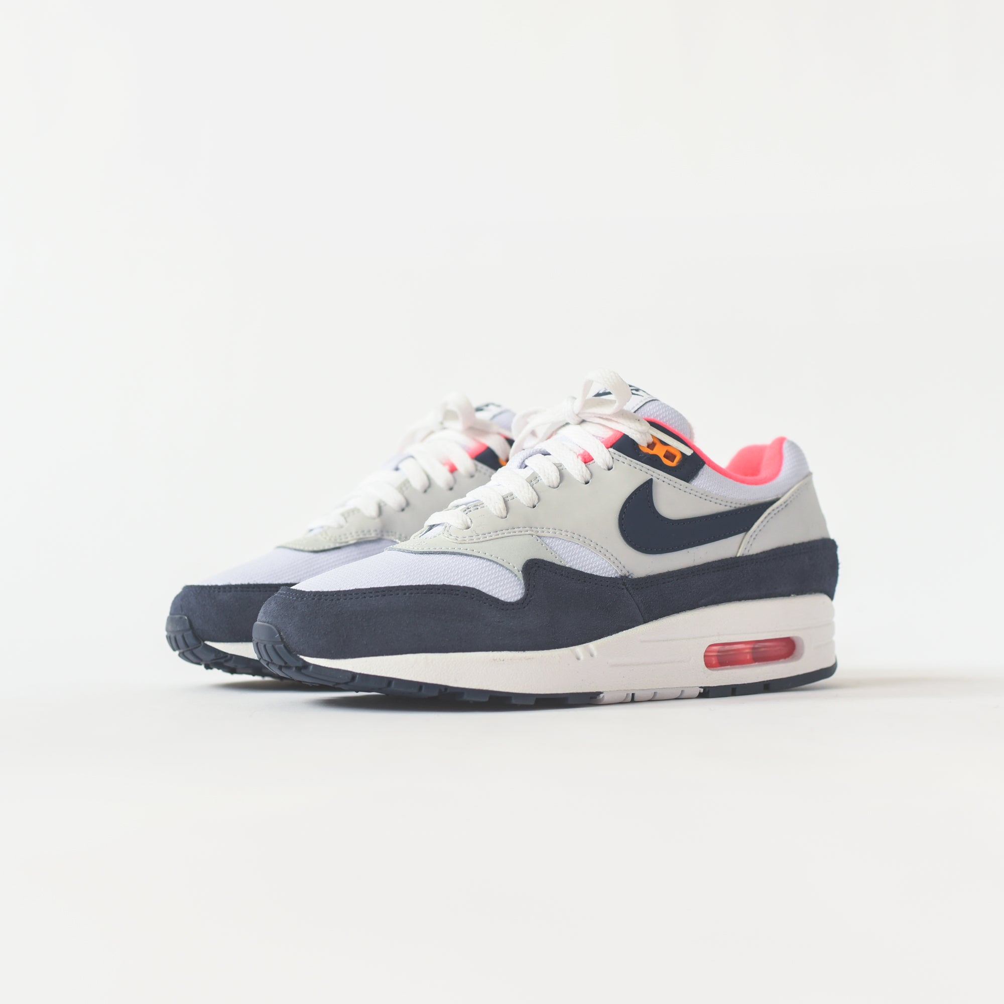 various styles new authentic factory authentic Nike WMNS Air Max 1 - White / Midnight Navy / Pure Platinum ...