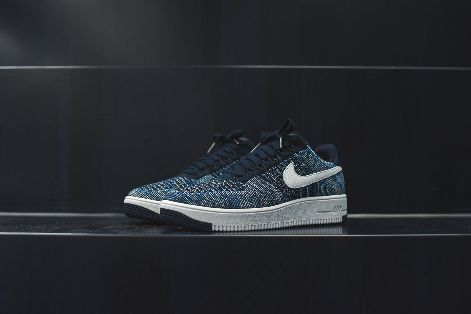Nike Air Force 1 Ultra Flyknit Low Obsidian – Kith