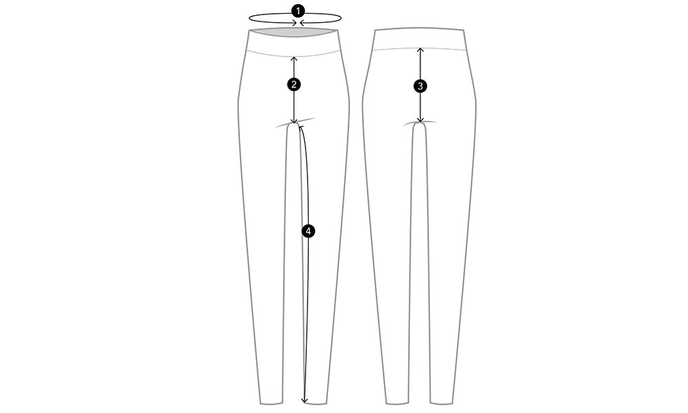 Kith Women Avery Tights - Elevation Size Guidelines