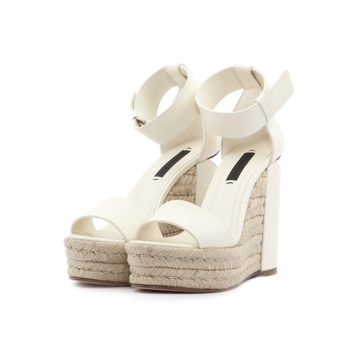 Alexander Wang Aurora Bone Smooth Calf Wedge