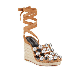 Alexander Wang Suede Taylor Wedge - Clay