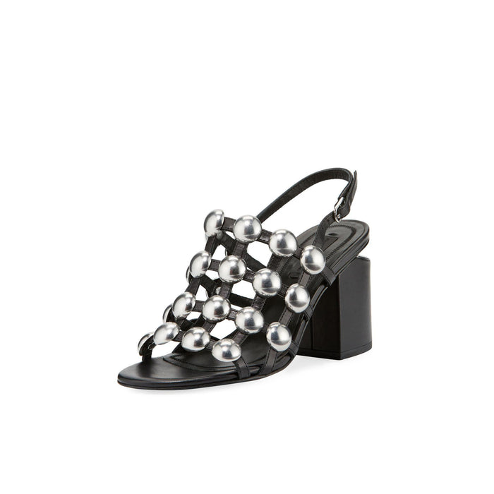 Alexander Wang Dome Stud Lou Soft Calf - Black