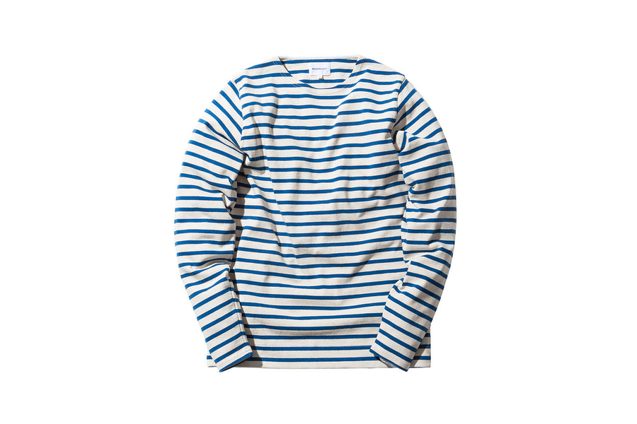 Norse Projects Godtfred Compact L/S Tee - Ecru / Blue