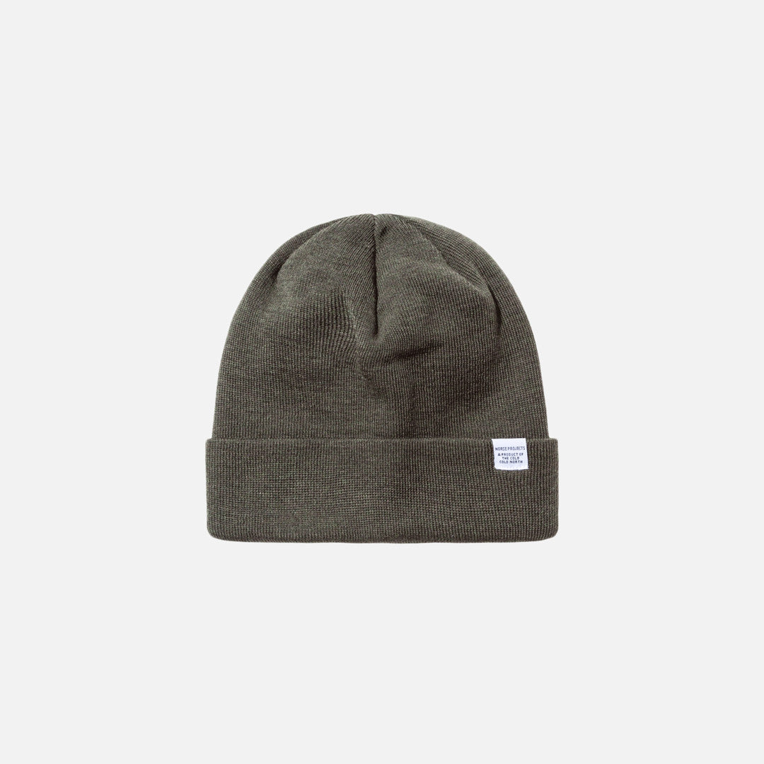 Norse Projects Top Beanie - Olive