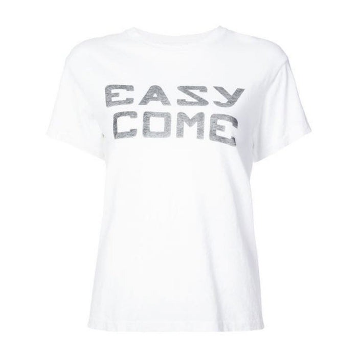 RE/DONE Girlfriend Tee Easy Graphic - White