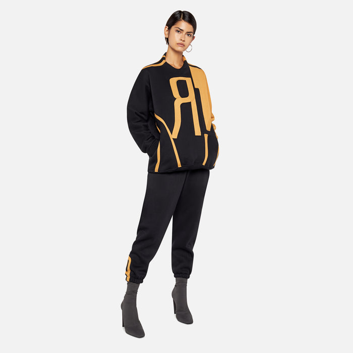 Rue-L R Cuff Tracksuit - Black / Yellow